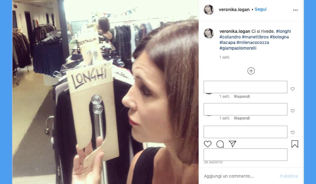 Veronika Logan pubblica sul suo profilo Instagram una foto che annuncia L'ispettore Coliandro 8