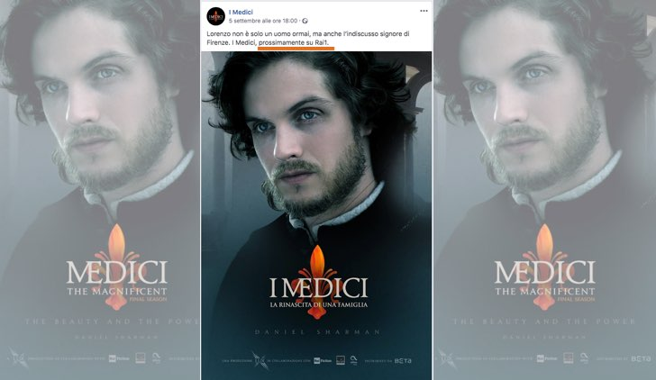 I Medici 3 La rinascita di una famiglia su Rai Uno foto pubblicata sull account Facebook ufficiale IMediciOfficial