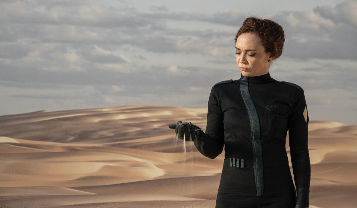 Laila Garin in una scena di Tre Percento. Credits Pedro Saad:Netflix