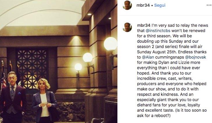 Michael Rauch pubblica sul suo account Instagram ufficiale la notizia che Instinct 3 non si fa