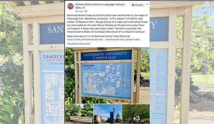 Tredici 4 riprese alla SSU post dell'account ufficiale Facebook SSU