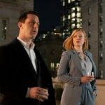 Da sinistra: Jeremy Strong e Sarah Snook in una scena di Succession. Credits: HBO via Sky.