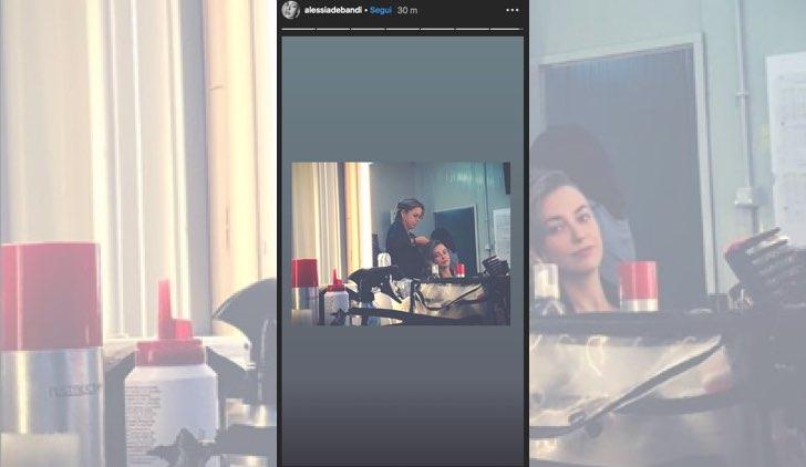 Il paradiso delle signore Angela Barbieri è interpretata da Alessia Debandi, qui una Instagram Stories condivisa dall'attrice il 27 settembre 2019