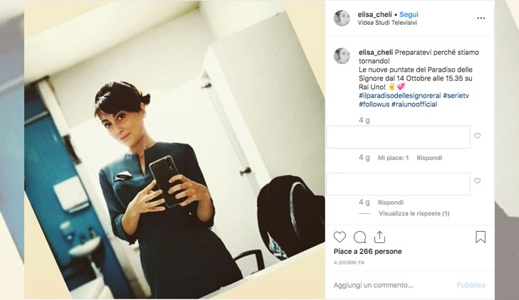 Il paradiso delle signore Daily 2 dal 14 ottobre 2019 alle 15.35 su Rai Uno foto pubblicata da Elisa Chieli sul suo profilo Instagram il 12 settembre 2019