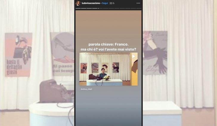 Il paradiso delle signore Franco è il nome del fidanzato della Venere Paola che nessuno ha mai visto, foto condivisa nelle Instagram Stories di Ludovica Coscione il 25 settembre 2019
