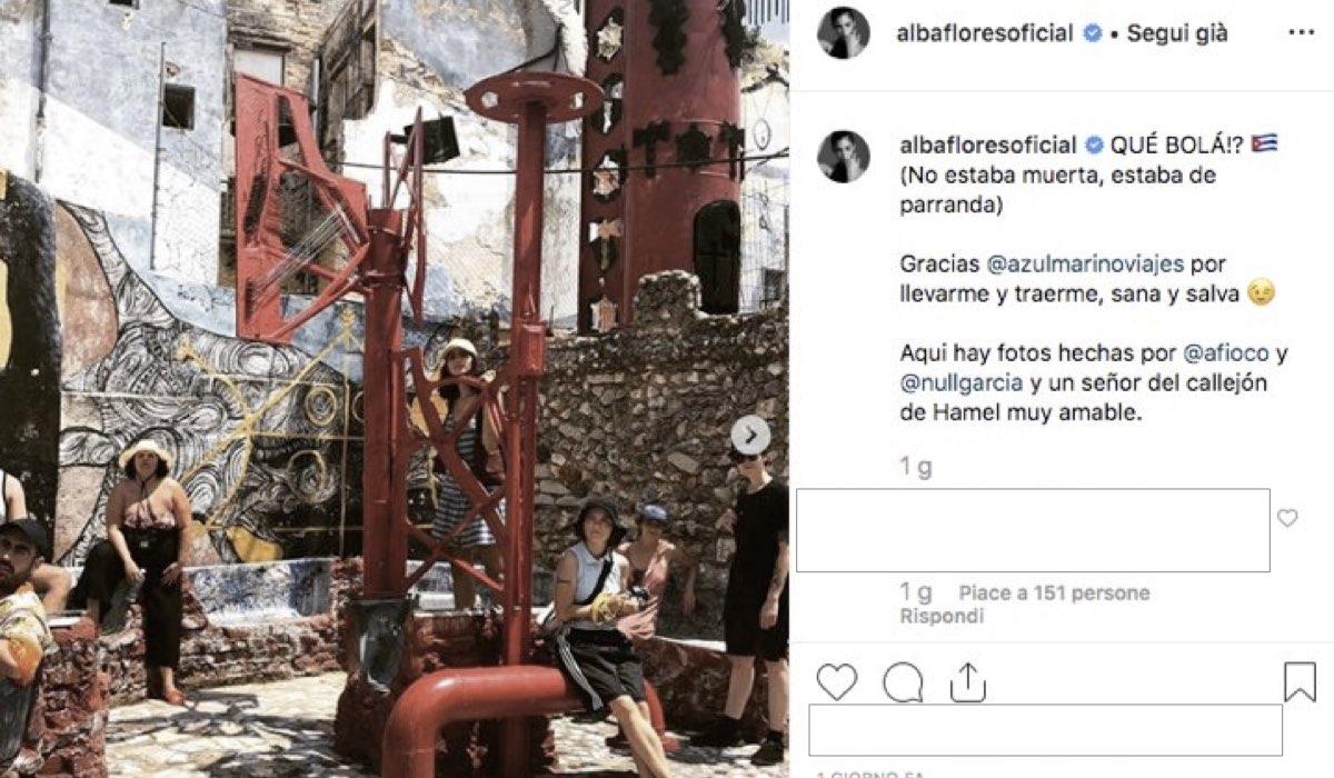 La casa di carta Nairobi è morta o viva, foto pubblicata dall'attrice Alba Flores sul suo profilo Instagram verificato