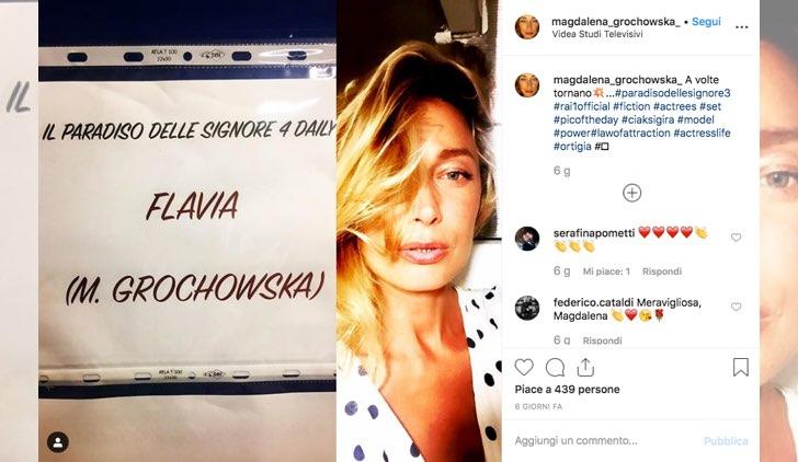 Magdalena Grochowska è Flavia ne Il paradiso delle signore foto pubblicata dalla attrice sul suo profilo Instagram