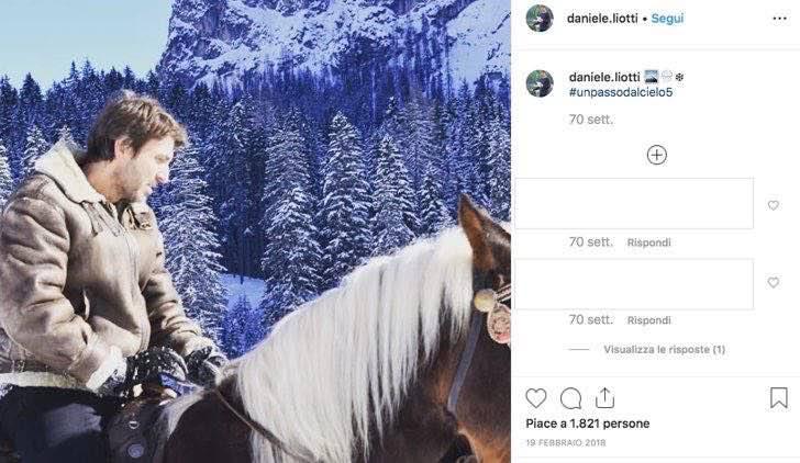 Un passo dal cielo 5 stagione Daniele Liotti condivide foto dal set sul suo account Instagram
