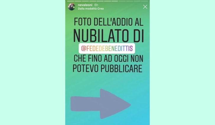 Addio al nubilato di Federica De Benedittis, foto pubblicate da Neva Leoni nelle sue IG Stories il 28 ottobre 2019