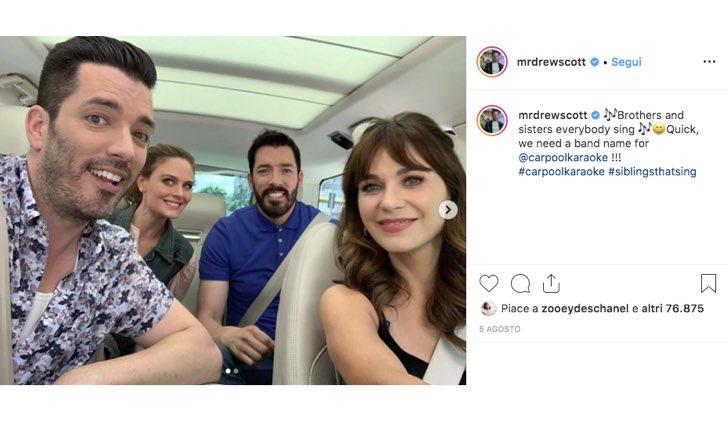 Drew Scott Instagram Jonathan Zooey Emily Deschanel