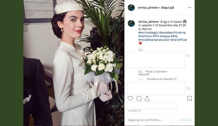 Enrica Pintore è nel cast di Enrico Piaggio Un Sogno Italiano nei panni di Paola Bechi Luserna foto pubblicata sul suo account Instagram