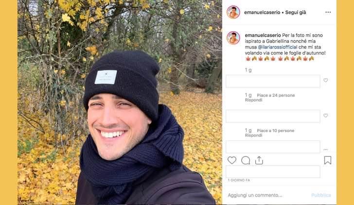 Il Paradiso delle Signore 4 Emanuel Caserio alias Salvatore pubblica questa foto sul suo profilo Instagram ipotizzando il destino di Salvatore e Gabriella
