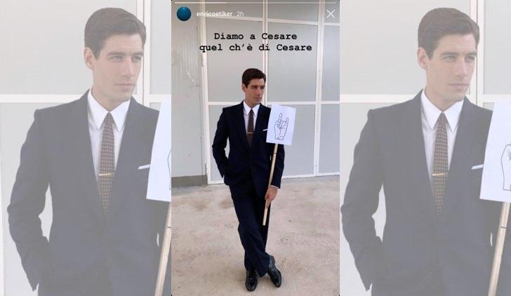 Il paradiso delle signore Cesare Diamante tradito da Nicoletta Cattaneo, qui una IG Stories dell'attore Enrico Oetiker pubblicata il 29 ottobre 2019