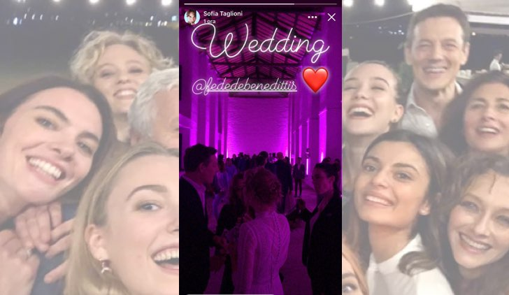 Il paradiso delle signore Federica De Benedittis e Giulio Maria Corso si sono sposati foto pubblicata da Sofia Taglioni in una Stories su Facebook