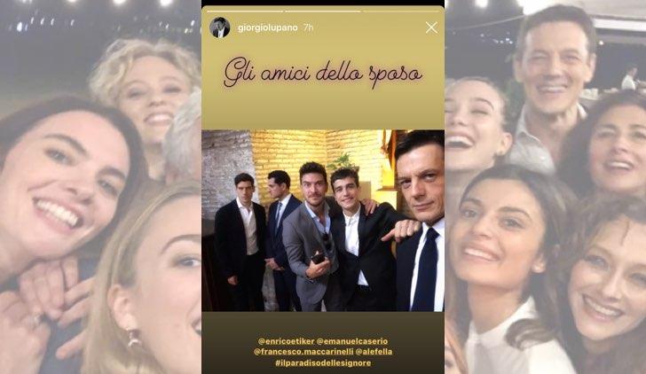 Il paradiso delle signore Federica De Benedittis e Giulio Maria Corso si sono sposati, gli amici della sposa, foto nelle IG Stories di Giorgio Lupano