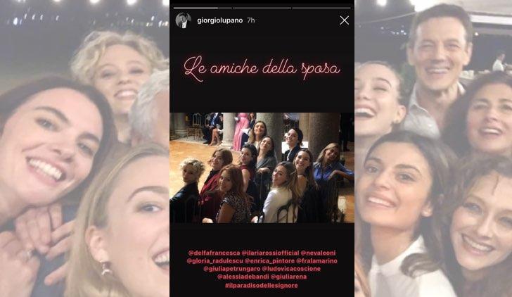 Il paradiso delle signore Federica De Benedittis e Giulio Maria Corso si sono sposati, le amiche della sposa, foto nelle IG Stories di Giorgio Lupano