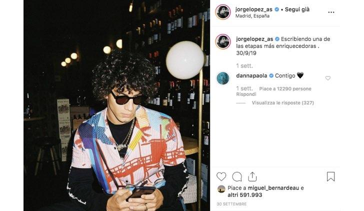 Jorge Lopez Instagram Danna Paola