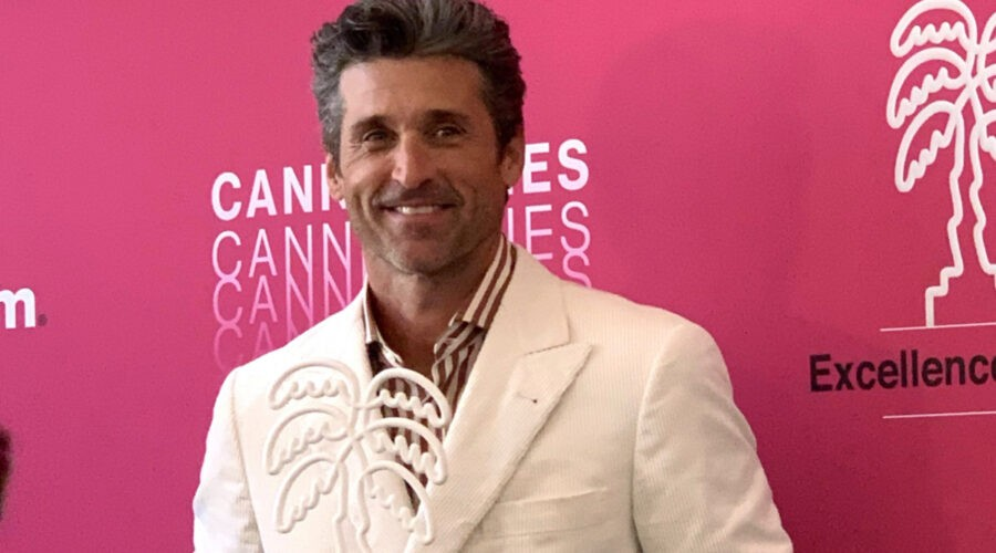 Patrick Dempsey riceve il Canneseries Excellence Awards. Credits Ph Federica Pogliani per Tvserial.it