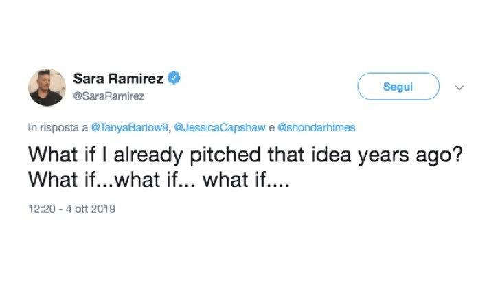 Sara Ramirez tweet Grey's Anatomy spin off Calzona