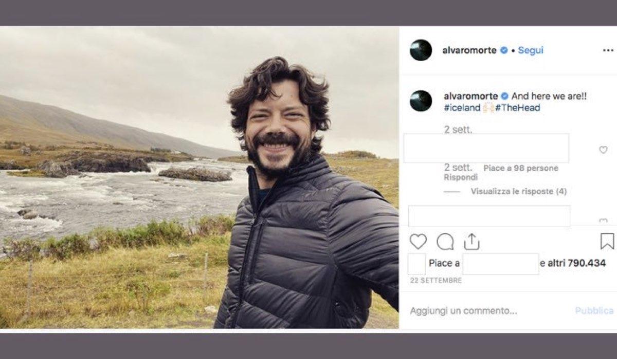 The Head serie tv con Alvaro Morte foto pubblicata dall attore sul suo account Instagram il 22 settembre 2019