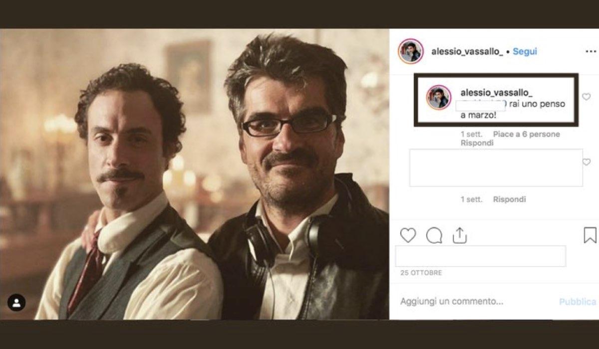 Alessio Vassallo è nel cast de La concessione del telefono nei panni di Pippo Genuardi, qui in risposta a un commento di un follower su Instagram ipotizza la data di uscita