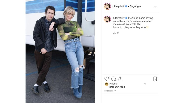 Hilary Duff Instagram Adam Lamberg
