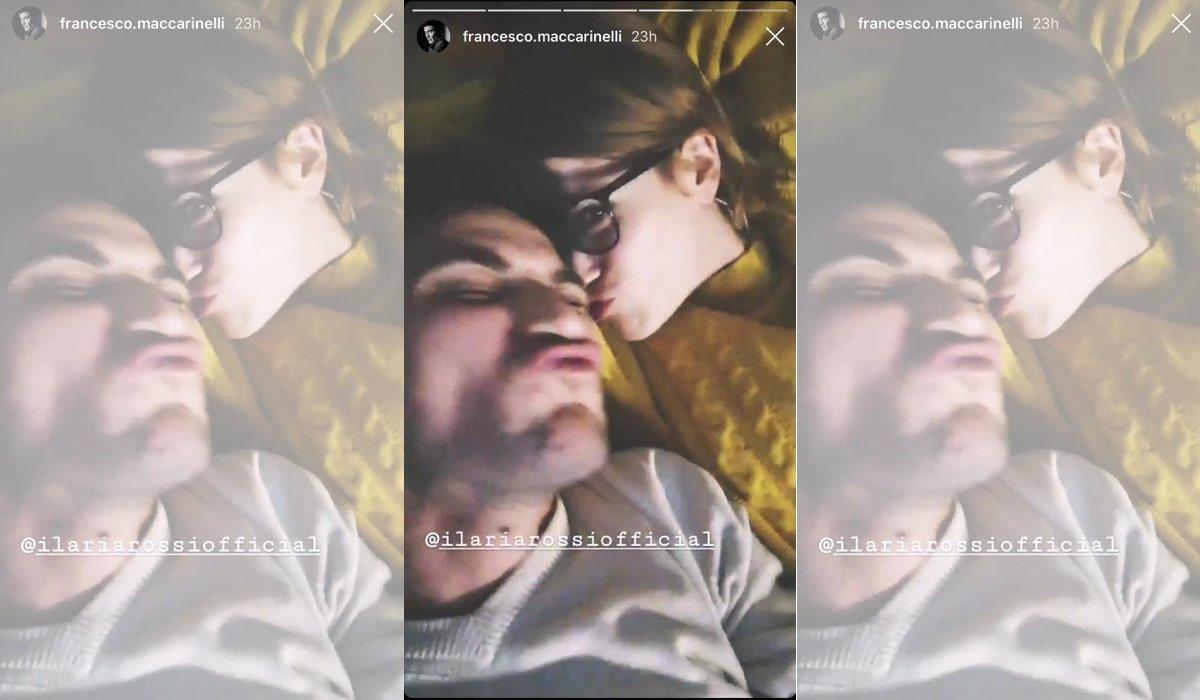 Il Paradiso delle Signore Ilaria Rossi e Francesco Maccarinelli in una Instagram Stories condivisa dall'attore sul suo profilo Instagram