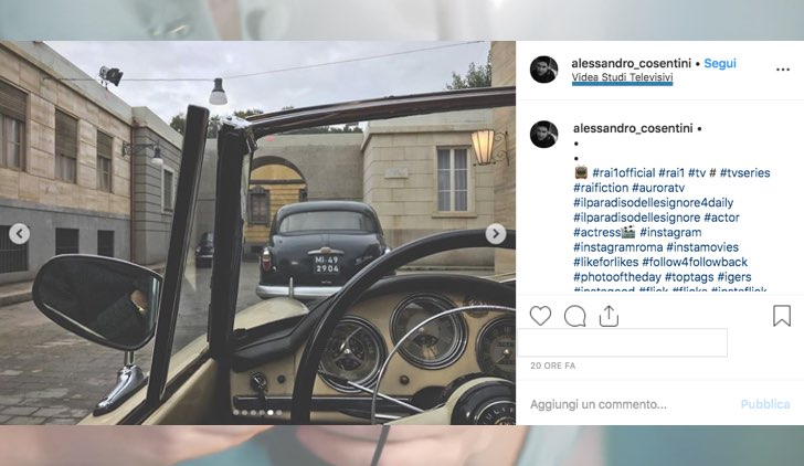 Il Paradiso delle Signore dove è girato in esterna foto pubblicata da Alessandro Cosentini sul suo profilo Instagram