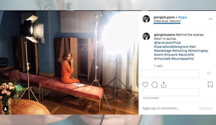 Il Paradiso delle Signore dove è lo spogliatoio del Paradiso foto pubblicata da Giorgio Lupano sul suo profilo Instagram