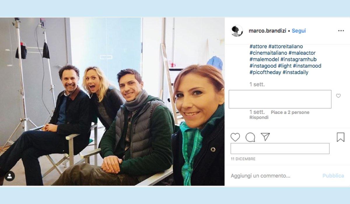 L'allieva 3 riprese ai Videa Studi Televisivi Fabrizio Coniglio Chiara Mastalli e Rosaria Valentina Sfragara foto condivisa da Marco Fabrizi sul suo account Instagram