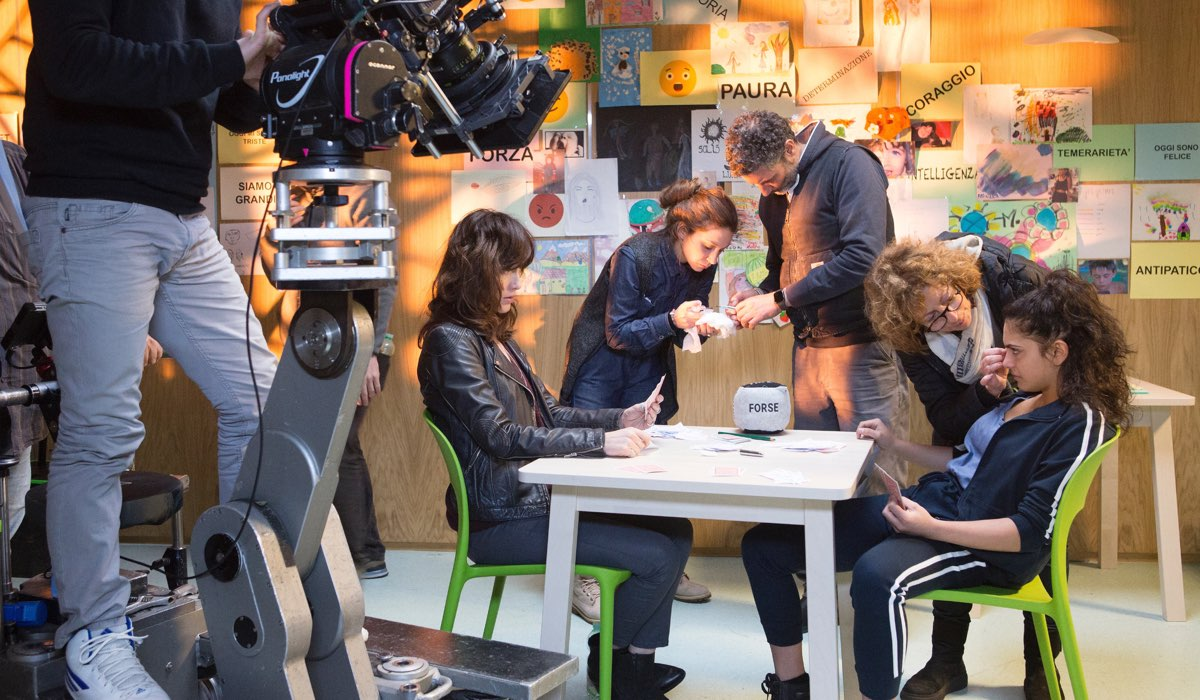Oltre la soglia Gabriella Pession è Tosca, qui sul set Credits Mediaset