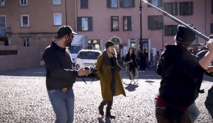 Sul set de Il Processo ficiont Credits Mediaset