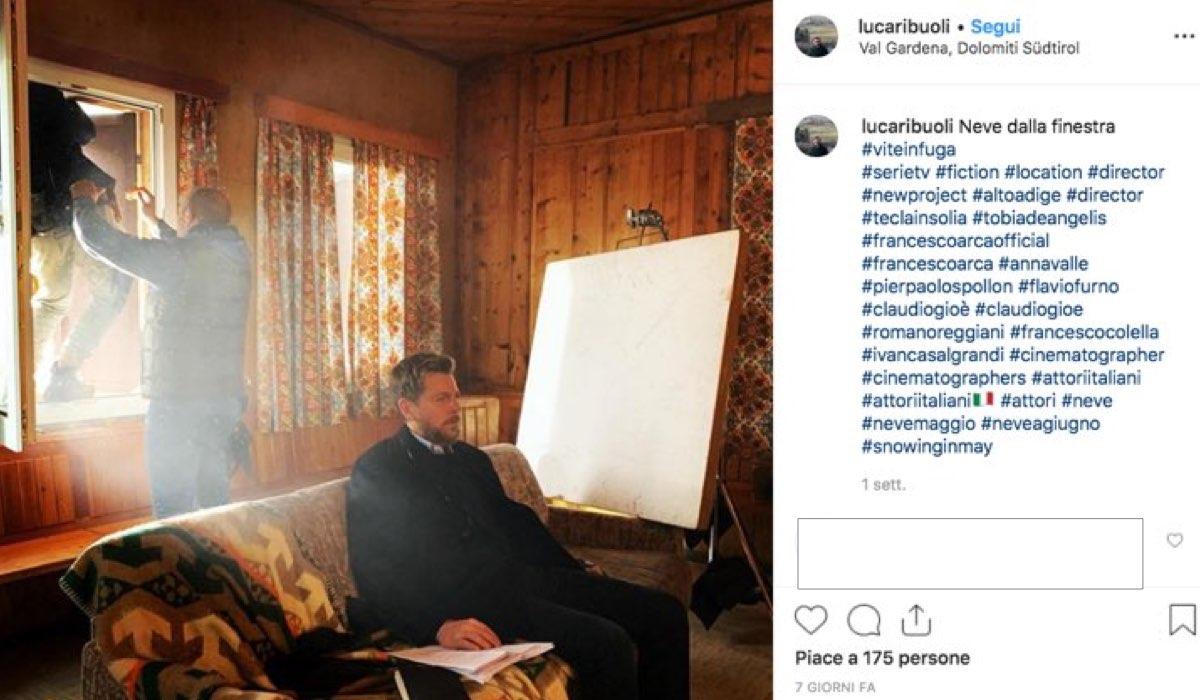 Vite in fuga riprese con Claudio Gioè della fiction foto pubblicate dal regista Luca Ribuoli sul suo account Instagram