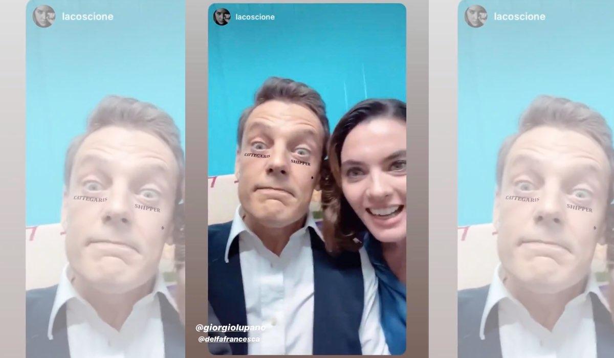 Il Paradiso delle Signore 4 Enrica Pintore e Giorgio Lupano sperano che Luciano e Clelia stiano insieme, Instagram Stories di Enrica Pintore del 10 dicembre 2019