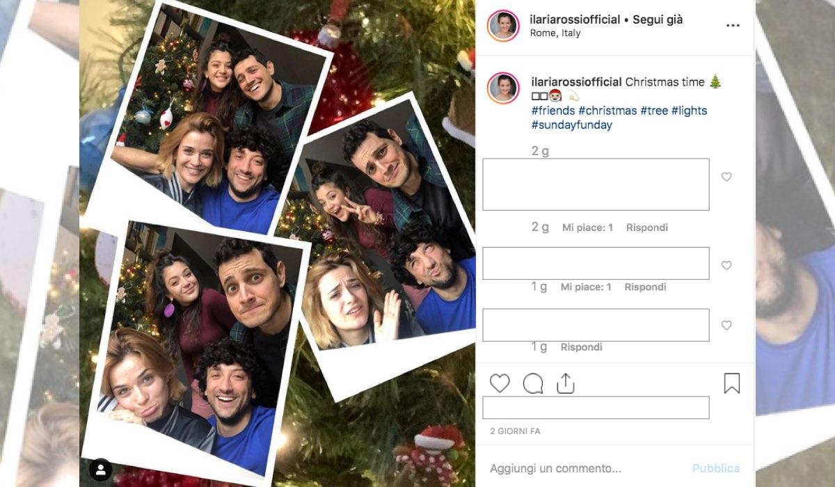 Il Paradiso delle Signore 4 Ilaria Rossi interprete di Gabriella pubblica una foto con l'albero di Natale sul suo account Instagram l'8 dicembre 2019