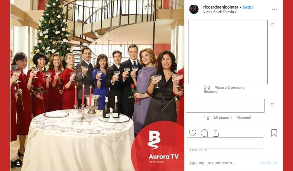 Il Paradiso delle Signore 4 cast pronto per le feste di Natale foto condivisa su Instagram da un account fan