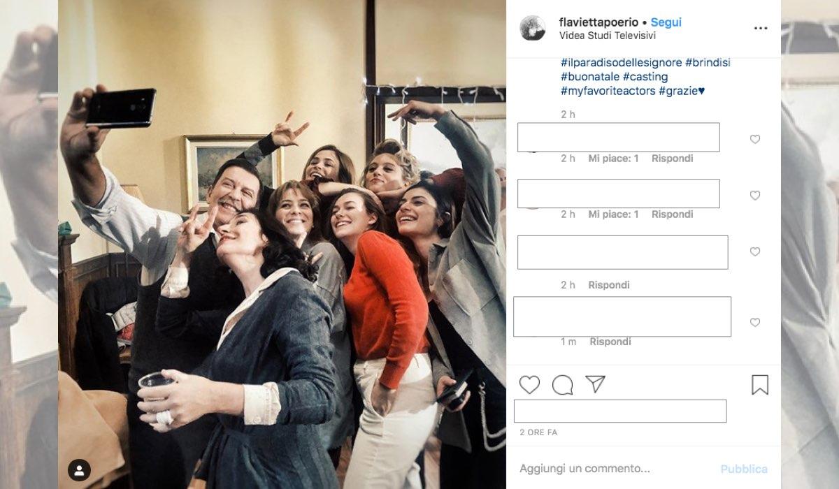 Il Paradiso delle Signore 4 selfie di buon Natale degli attori nel cast condiviso su Instagram