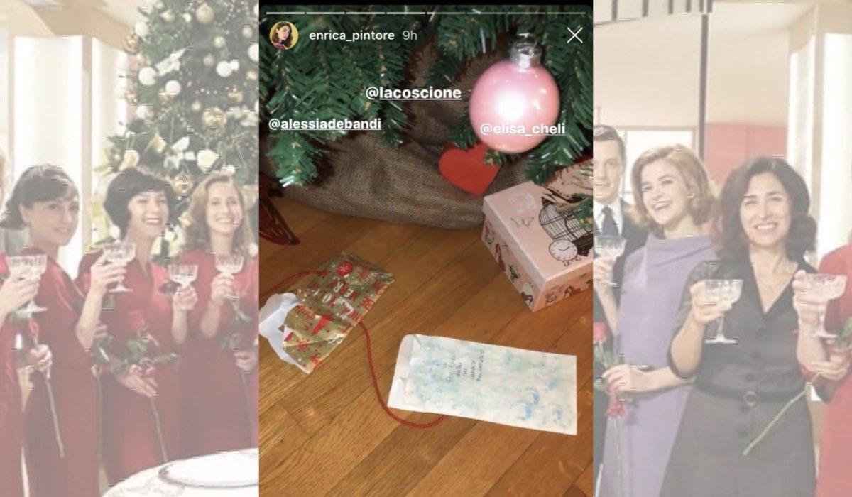 Il Paradiso delle Signore a Natale il regalo per Enrica Pintore da Alessia Debandi, Elisa Chieli e Ludovica Coscione in una Instagram Stories dell attrice