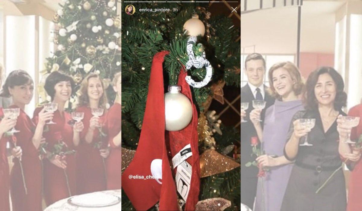 Il Paradiso delle Signore a Natale il regalo per Enrica Pintore da Elisa Chieli in una Instagram Stories dell attrice