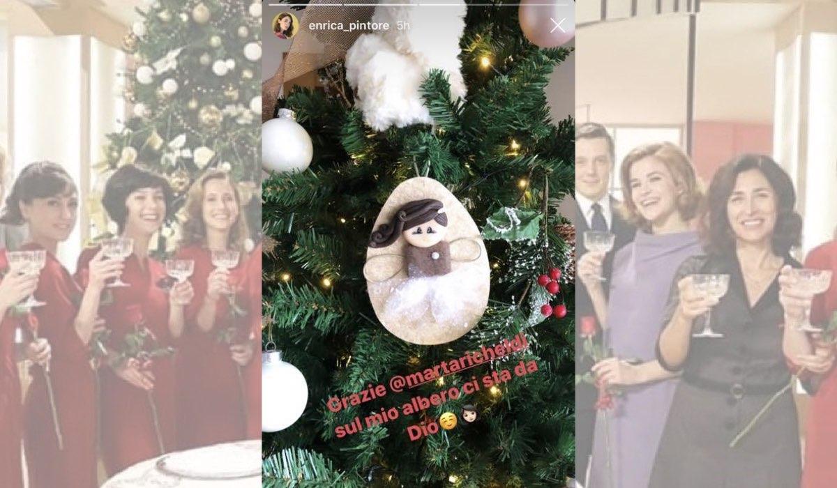 Il Paradiso delle Signore a Natale il regalo per Enrica Pintore da Marta Richeldi in una Instagram Stories dell attrice