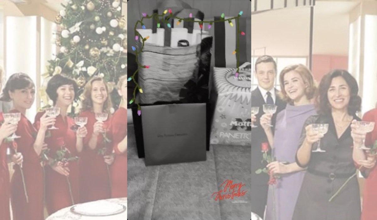 Il Paradiso delle Signore a Natale regali della produzione agli attori, foto pubblicata da Alessia Debandi il 19 dicembre 2019 nelle sue Instagram Stories