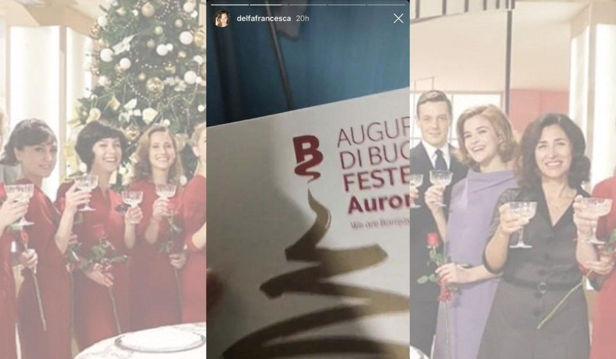 Il Paradiso delle Signore a Natale regali della produzione agli attori, foto pubblicata da Francesca Del Fa il 19 dicembre 2019 nelle sue Instagram Stories