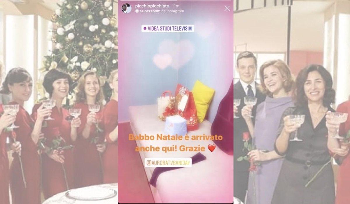 Il Paradiso delle Signore a Natale regali della produzione agli attori, foto pubblicata da Pietro Masotti il 20 dicembre 2019 nelle sue Instagram Stories