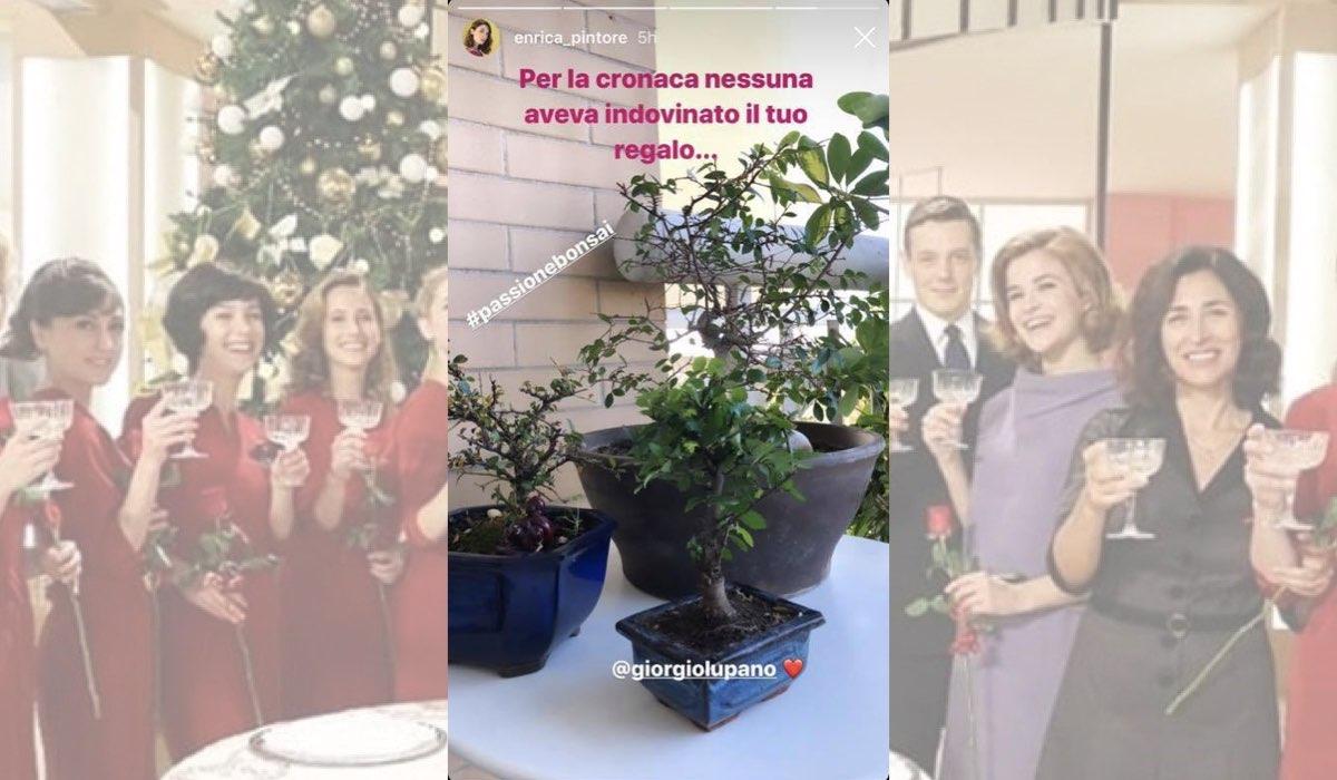 Il Paradiso delle Signore regalo di Natale Giorgio Lupano per Enrica Pintore in una Instagram Stories dell'attrice