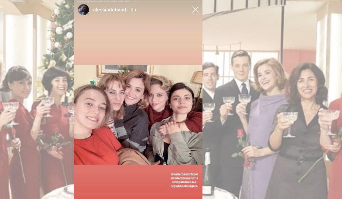 Il Paradiso delle Signore selfie di Natale su IG con Alessia Debandi, Federica De Benedittis, Ilaria Rossi, Francesca Del Fa e Giulia Petrungaro