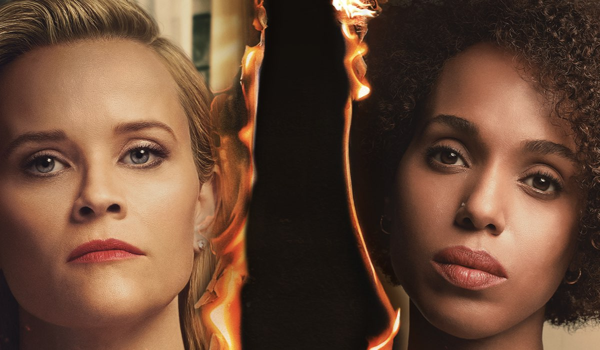 Reese Witherspoon e Kerry Washington nel poster di Little Fires Everywhere. Credits Amazon Prime Video