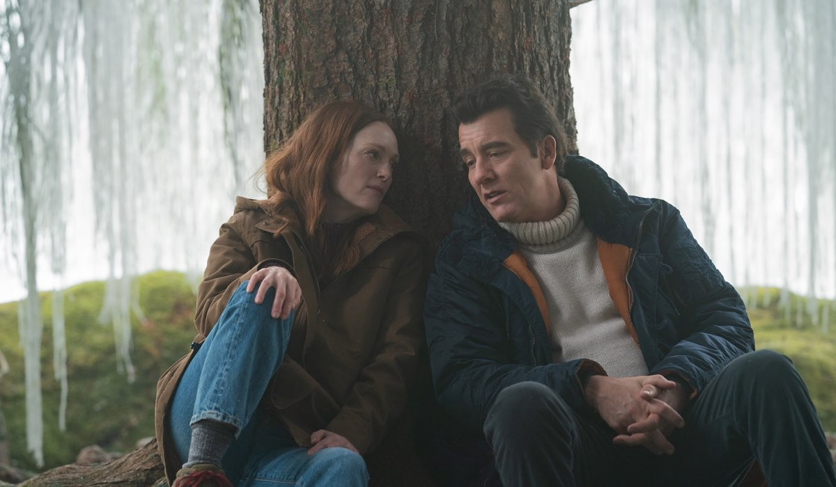 Julianne Moore (Lisey) e Clive Owens (Scott) In Lisey's Story. Credits: Apple Tv Plus