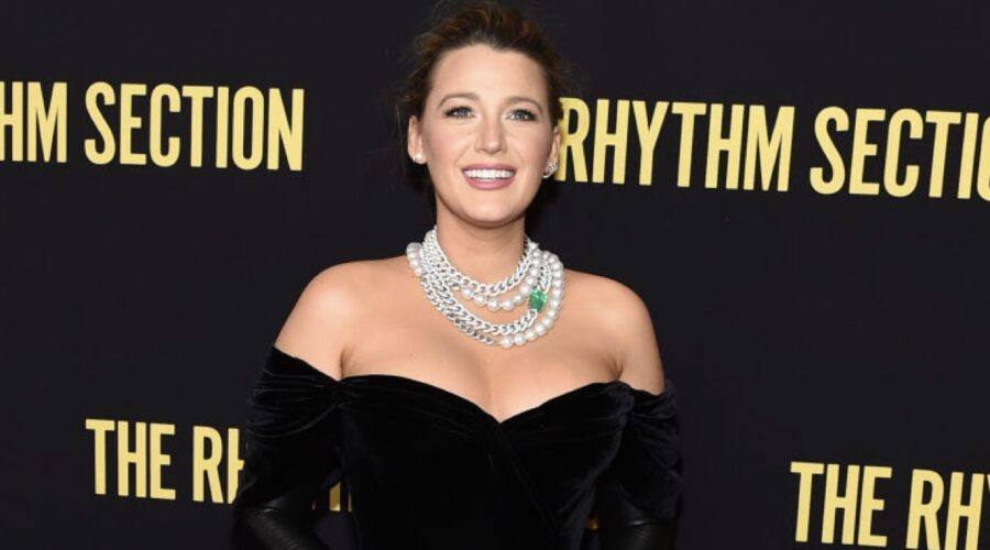 Blake Lively alla premiere del film The Rhythm Section. Credits Jamie McCarthy per Getty Images
