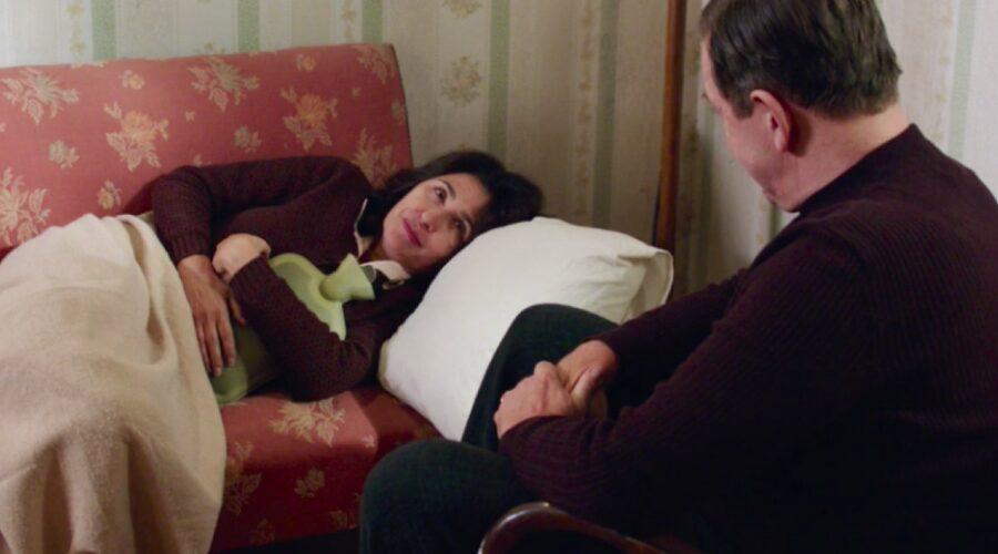 Il Paradiso delle Signore 4 Agnese Amato interpretata da Antonella Attili e Armando Ferraris interpretato da Pietro Genuardi nella puntata 74 Credits RAI