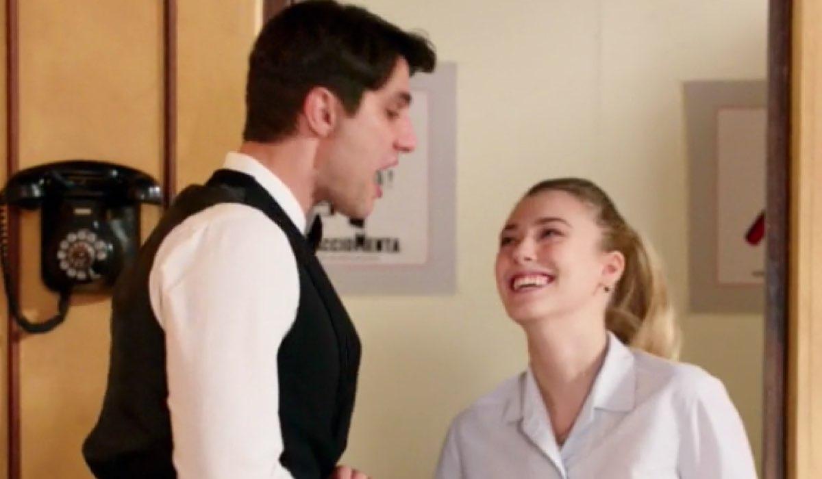 Il Paradiso delle Signore 4 Angela e Marcello in Caffetteria nella puntata 66 prendono in giro gli aristocratici Credits RAI